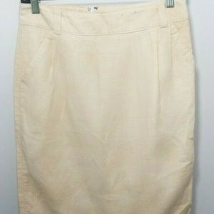Banana Republic Linen Pencil Skirt 4 Straight